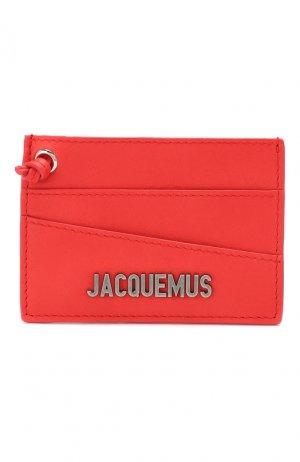 Кожаный футляр для кредитных карт Le Porte Jacquemus. Цвет: красный