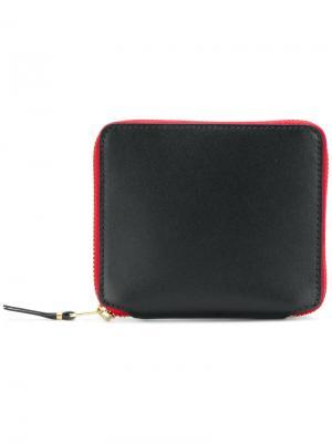 Бумажник с круговой застежкой-молнией Comme Des Garçons. Цвет: чёрный
