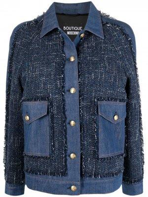 Джинсовая куртка на пуговицах Boutique Moschino. Цвет: синий