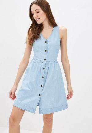Платье джинсовое Roxy. Цвет: голубой