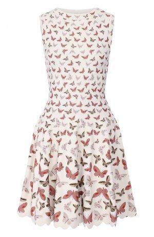 Платье из вискозы Alaia. Цвет: белый