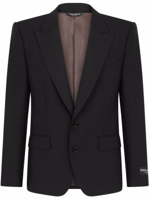 Костюм с однобортным пиджаком Dolce & Gabbana. Цвет: черный