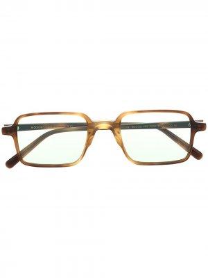 Солнцезащитные очки Shindig в прямоугольной оправе Moscot. Цвет: коричневый