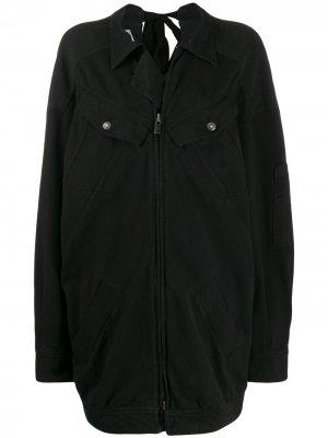 Пальто свободного кроя на молнии A.F.Vandevorst. Цвет: черный