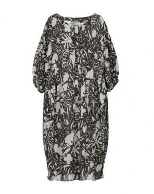 Платье до колена GIO' MORETTI. Цвет: стальной серый
