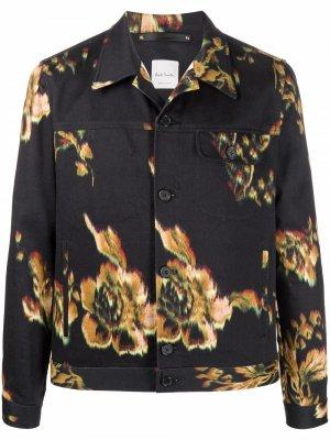 Легкая куртка с цветочным принтом PAUL SMITH. Цвет: черный