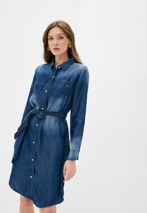 Платье джинсовое Taifun. Цвет: синий