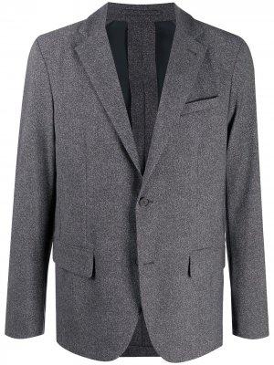 Однобортный пиджак Traiano Milano. Цвет: серый