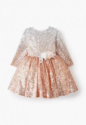 Платье Mimpi Lembut. Цвет: золотой