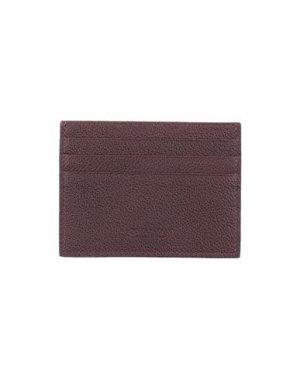Чехол для документов GIORGIO ARMANI. Цвет: красно-коричневый