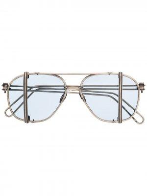 Солнцезащитные очки из коллаборации с Boris Bidjan Saberi Werkstatt:München. Цвет: серебристый