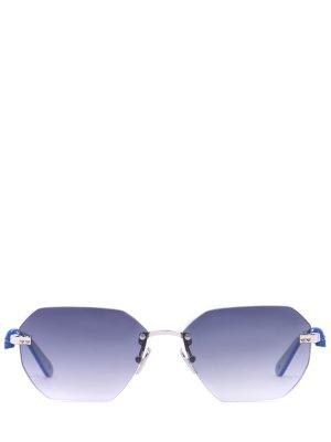 Очки солнцезащитные Philipp Plein. Цвет: синий