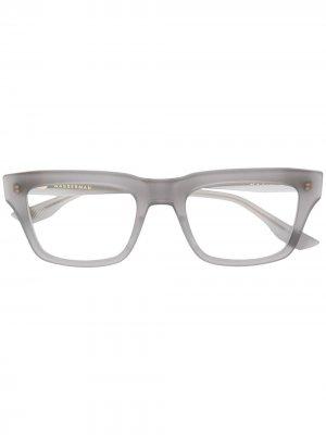 Очки Wasserman в квадратной оправе Dita Eyewear. Цвет: серый