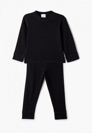 Комплект термобелья Wool&Cotton. Цвет: черный