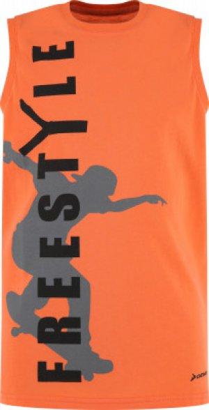 Майка для мальчиков , размер 134 Demix. Цвет: оранжевый