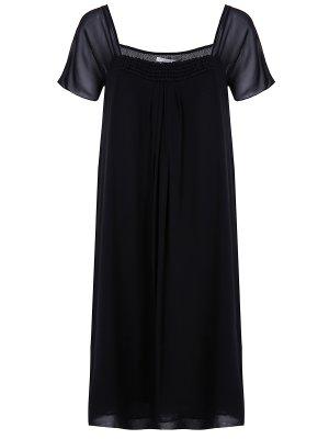 Платье коктейльное шелковое DOROTHEE SCHUMACHER. Цвет: черный