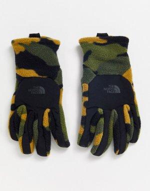 Перчатки цвета хаки Denali Etip-Зеленый The North Face