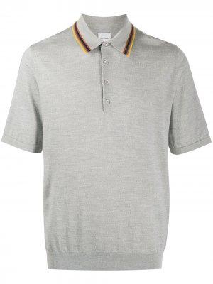 Contrast trim polo shirt Paul Smith. Цвет: серый