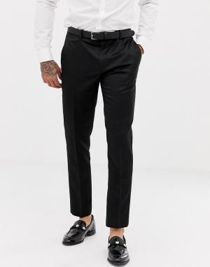 Черные брюки скинни под смокинг River Island. Цвет: черный