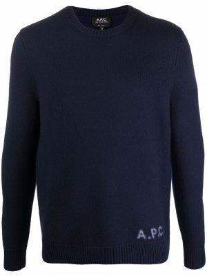 Logo print jumper A.P.C.. Цвет: синий