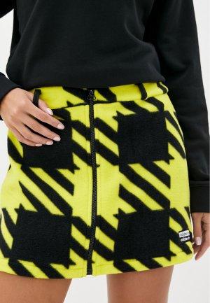 Юбка adidas Originals SKIRT. Цвет: желтый