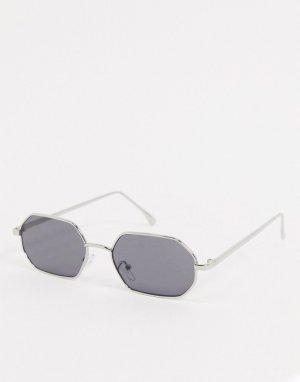 Солнцезащитные очки с серебристой оправой -Серебристый AJ Morgan
