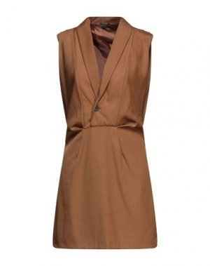 Короткое платье FULL CIRCLE. Цвет: верблюжий