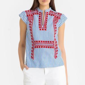 Блузка в полоску JACKIE TEE ANTIK BATIK. Цвет: синяя полоска