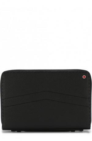 Кожаный футляр для документов Kiton. Цвет: черный