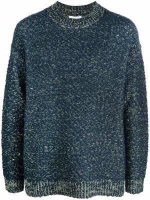 Marl-knit wool-blend jumper Kenzo. Цвет: синий
