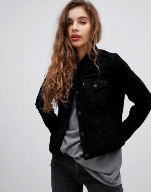 Кожаная куртка Levis-Черный Levi's