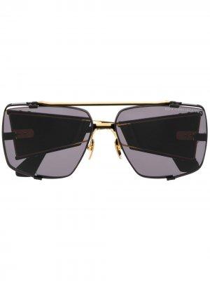 Массивные солнцезащитные очки Souliner Two Dita Eyewear. Цвет: черный