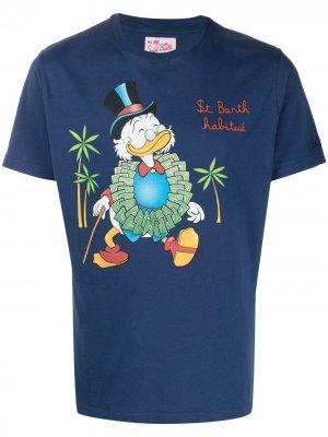 Футболка Scrooge McDuck с графичным принтом Mc2 Saint Barth. Цвет: синий