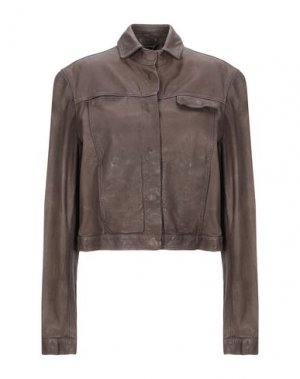 Куртка 10SEI0OTTO. Цвет: коричневый