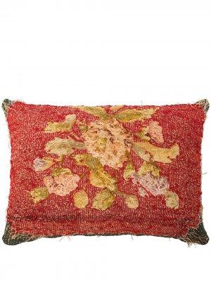 Жаккардовая подушка с цветочным узором By Walid. Цвет: красный