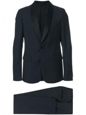 Классический деловой костюм Prada. Цвет: синий
