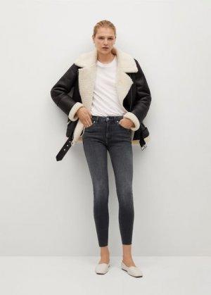 Укороченные джинсы скинни Isa - Mango. Цвет: серый