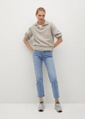 Прямые джинсы из хлопка - Mar Mango. Цвет: синий средний