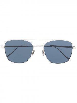 Солнцезащитные очки в квадратной оправе с логотипом Cartier Eyewear. Цвет: серебристый