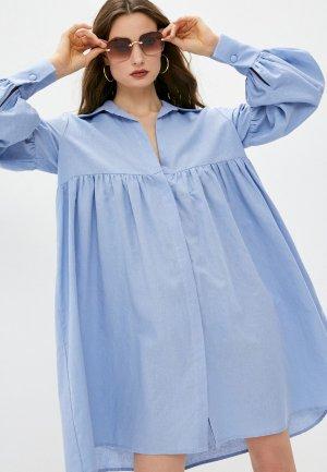 Платье пляжное LAutre Chose L'Autre. Цвет: голубой
