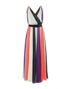 Длинное платье MANGANO. Цвет: светло-зеленый