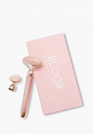 Массажер для лица Bloor роллер гуаша из розового кварца с функцией вибрации. Цвет: розовый