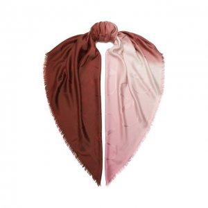 Шаль из шелка и шерсти Valentino. Цвет: красный