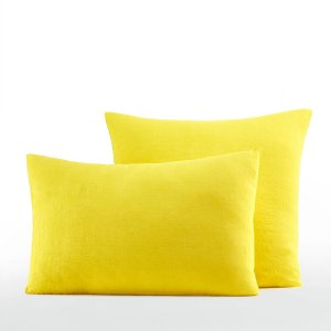 Наволочка LaRedoute. Цвет: желтый