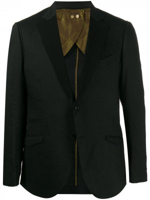 Пиджак с контрастными лацканами Maurizio Miri. Цвет: черный
