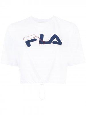 Футболка Nicoletta с логотипом Fila. Цвет: белый