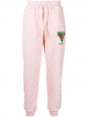 Спортивные брюки с вышивкой Casablanca. Цвет: розовый