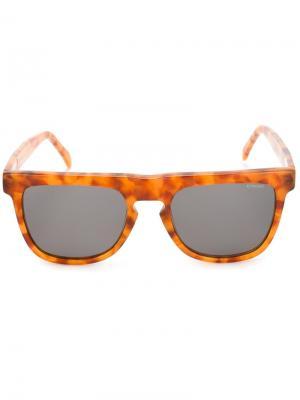 Солнцезащитные очки в квадратной оправе Komono. Цвет: жёлтый и оранжевый