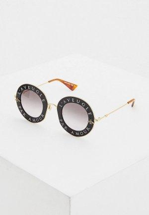 Очки солнцезащитные Gucci GG0113S 001. Цвет: черный
