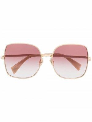 Солнцезащитные очки с эффектом градиента LANVIN. Цвет: золотистый